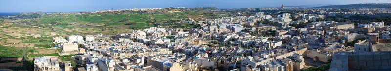 panorama- sikt för gozo arkivfoto