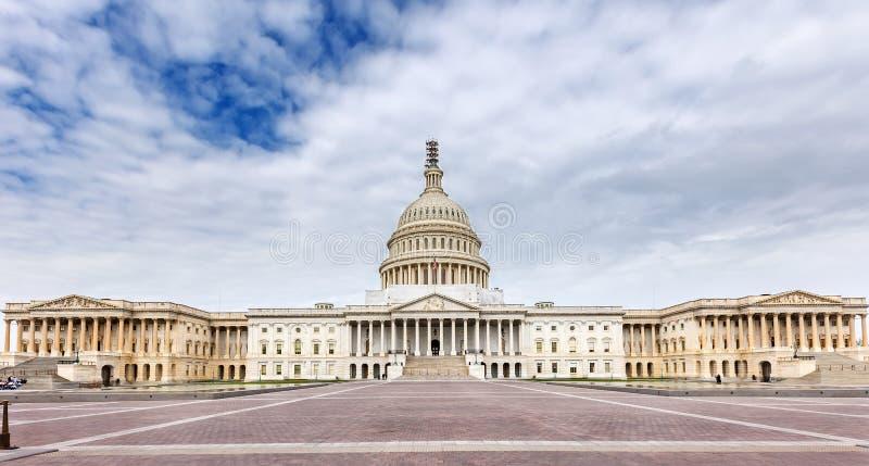 Panorama- sikt för US-Capitol fotografering för bildbyråer
