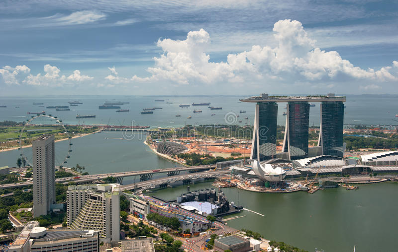 Download Panorama of Singapore stock image. Image of cityscape - 16765767