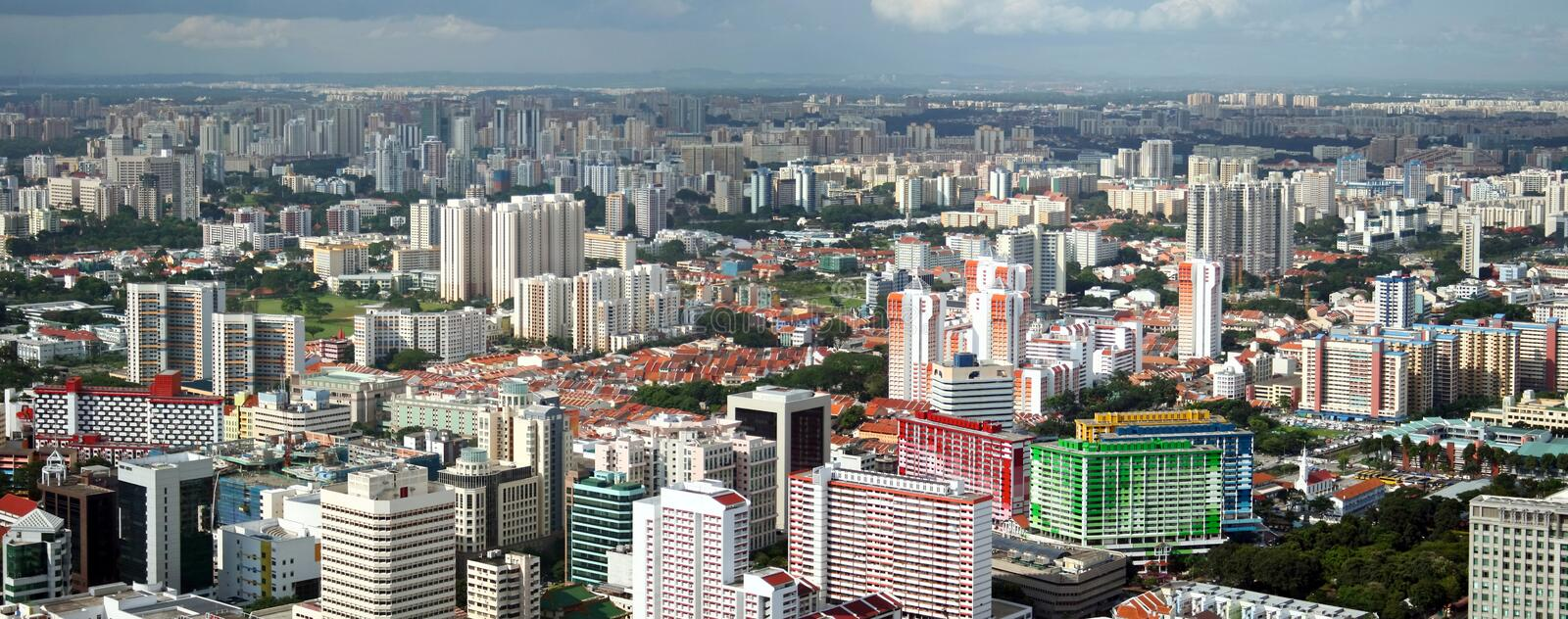 Download Panorama Of Singapore City stock photo. Image of business - 14108782