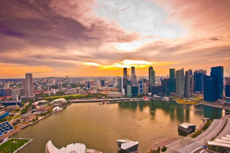 Panorama Of Singapore Stock Photo