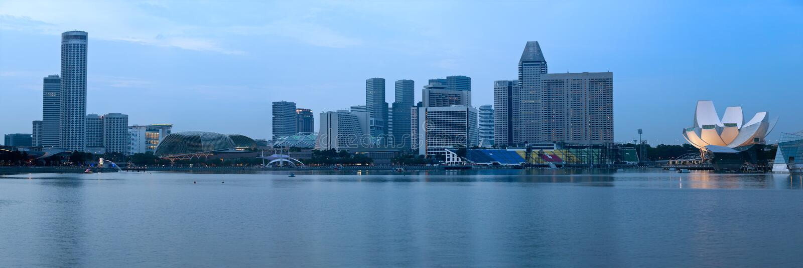Download Panorama Of Singapore Over Marina Bay Stock Photo - Image: 23993862