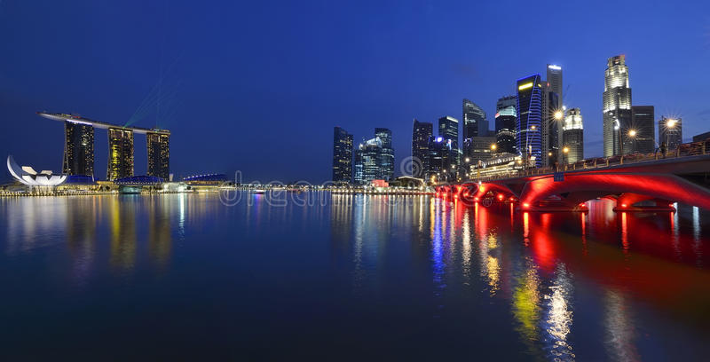 Download Panorama Of Singapore Skyline And River Stock Photo - Image: 18893510