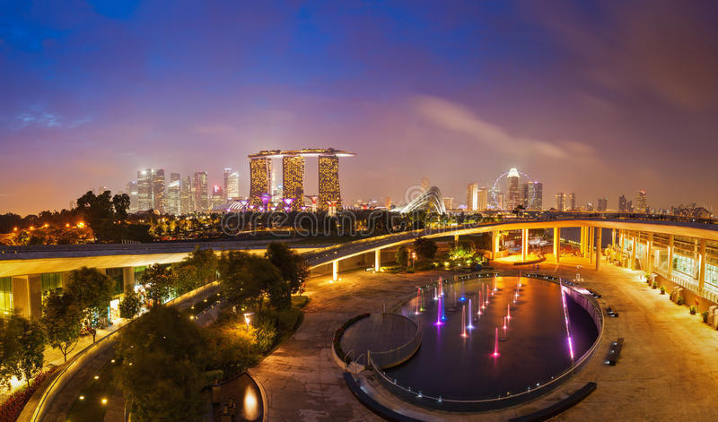 Download Panorama Of Singapore Skyline Stock Image - Image: 39629089
