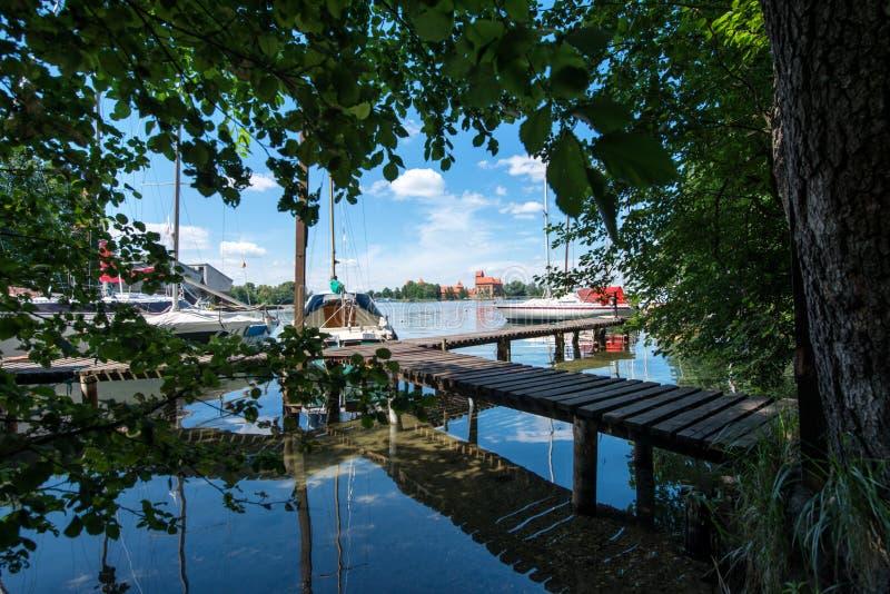 Download Panorama- sjö med fartyget arkivfoto. Bild av landskap - 78726456