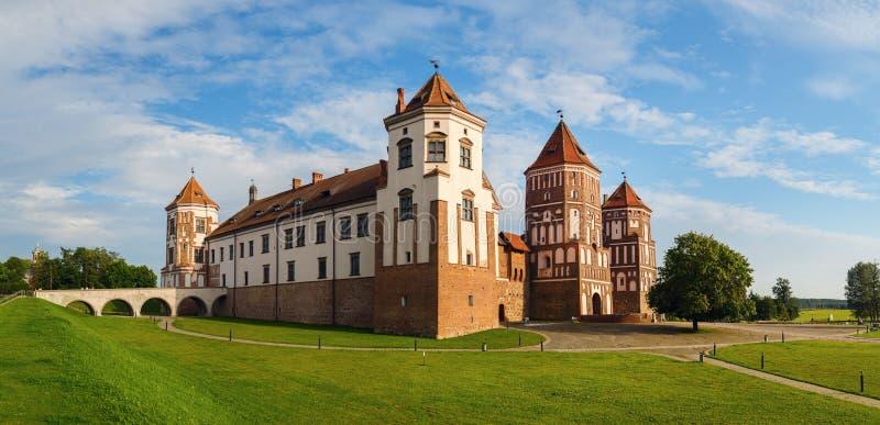 Panorama- skott av slotten arkivbild