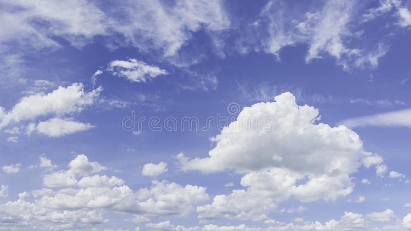 Panorama sky and cloud background. Panoramic composition in high stock photos