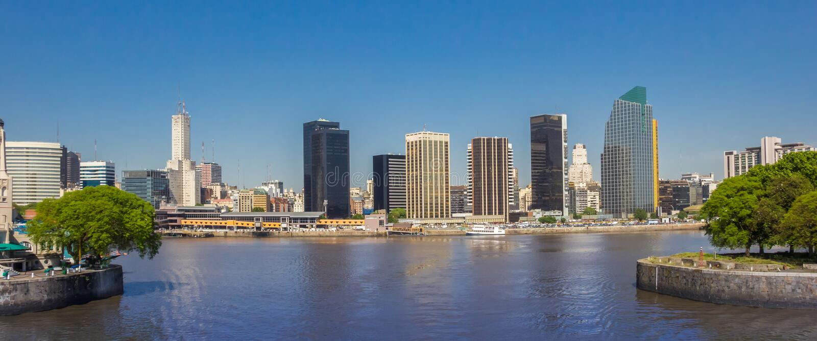Panorama of the skyline of modern Buenos Aires royalty free stock photography
