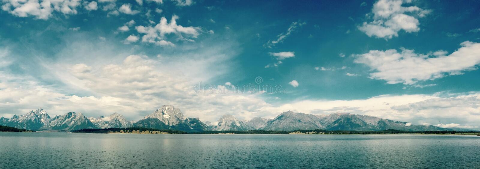 Panorama Of Snow Capped Peaks On Coastline Free Public Domain Cc0 Image