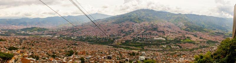 Panorama sobre Medellin, Colômbia imagens de stock