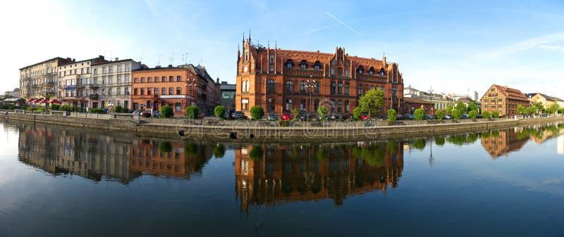 Panorama sobre o Brda em Bydgoszcz imagem de stock