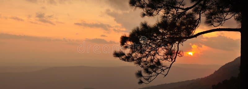 Panorama-Sonnenuntergang lizenzfreies stockfoto