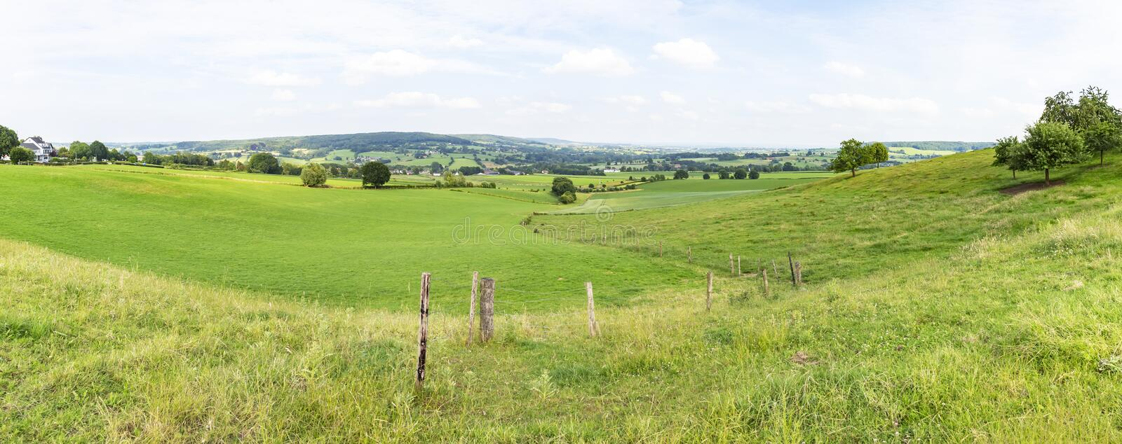 Panorama of South Limburg hilly landscape near Epen stock photos