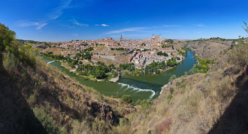 panorama Spain Toledo obrazy royalty free
