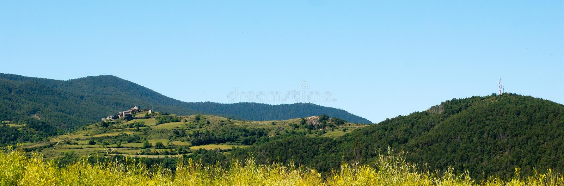 Panorama Spanish Pyrenees stock photo