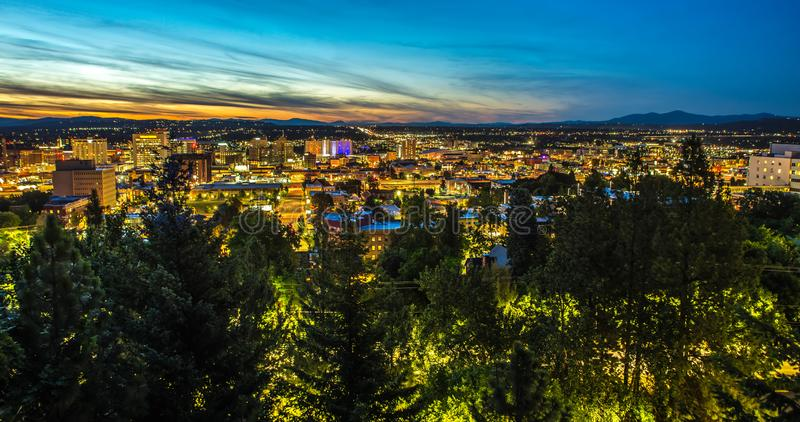 Panorama Spokane Washington Downtown City Skyline stock fotografie