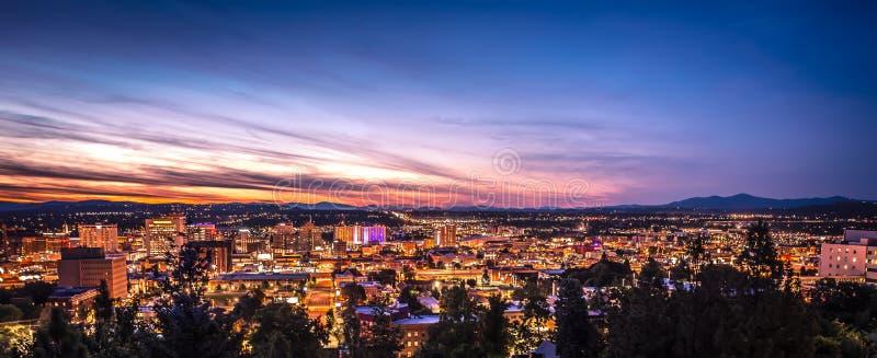 Panorama Spokane Washington Downtown City Skyline stock fotografie