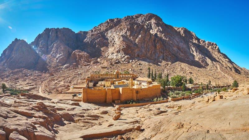 Panorama St Catherine monaster, Synaj, Egipt fotografia stock
