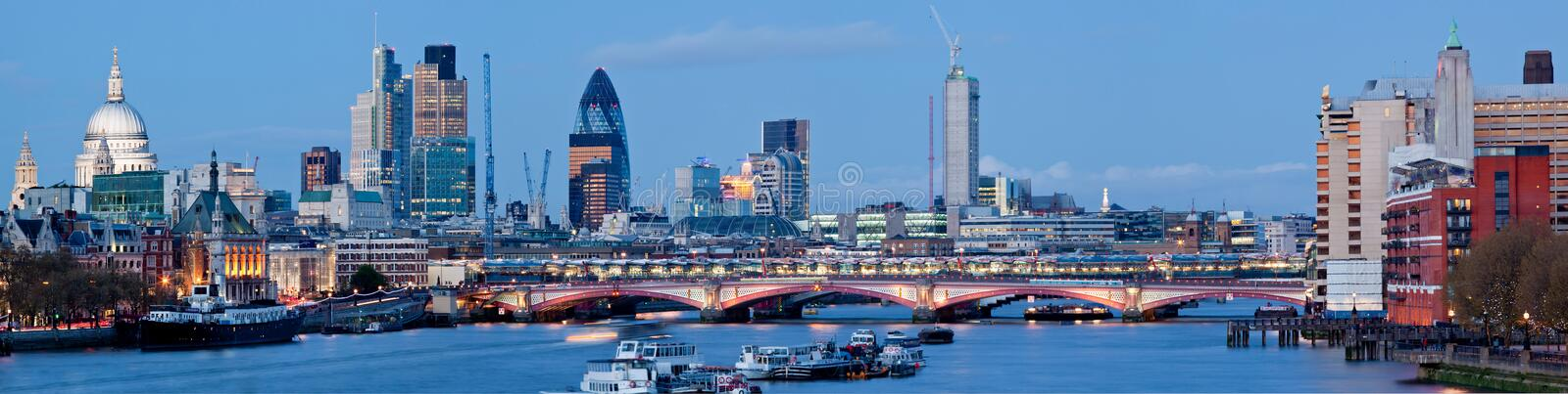 Panorama of St. Paul Cathedral London royalty free stock photography