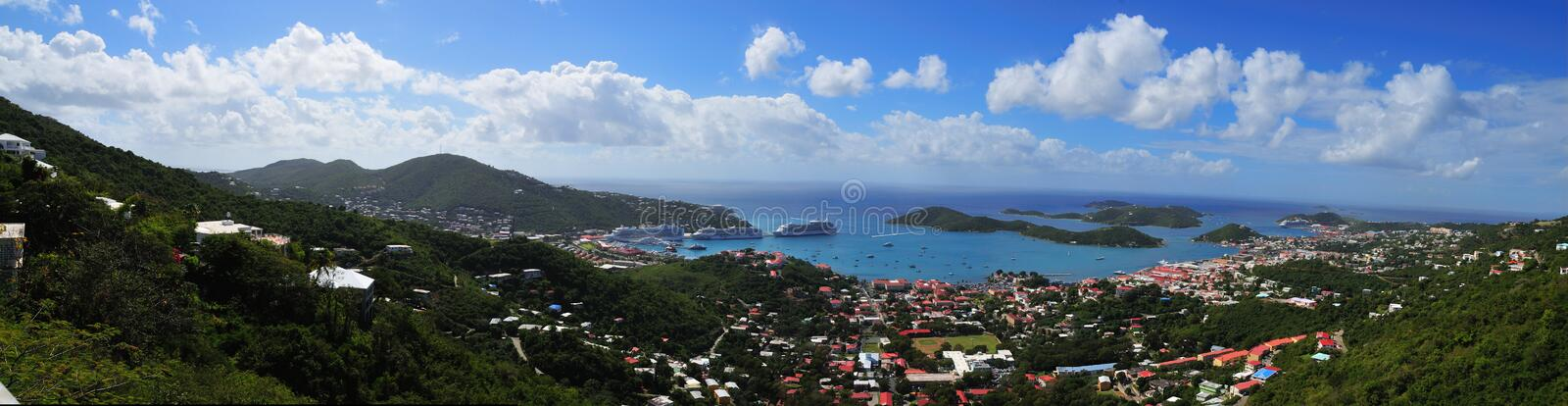 Panorama St. Thomas royalty-vrije stock fotografie