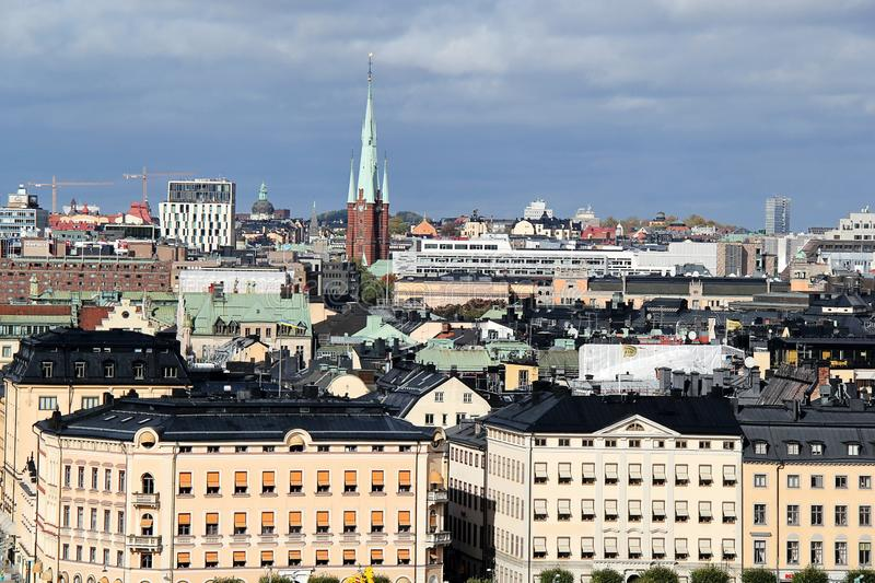 Panorama of Stockholm City, Sweden royalty free stock photography