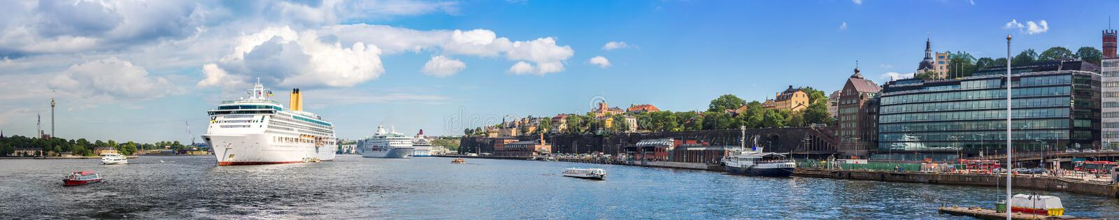 Panorama of Stockholm, Sweden royalty free stock photography