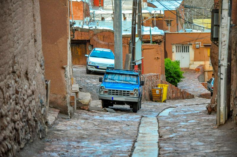Panorama of the street of the old city in Iran stock photography