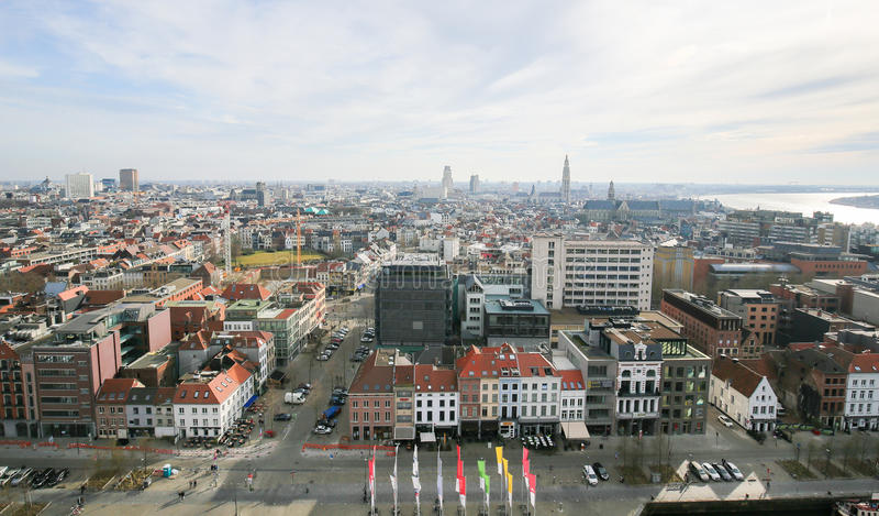 Panorama su Anversa, Belgio immagini stock libere da diritti