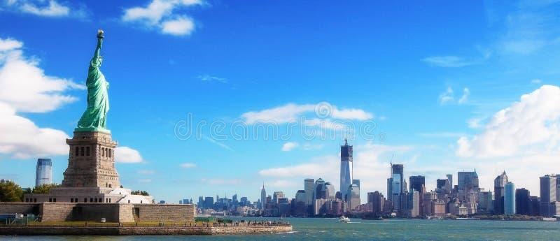 Panorama su Manhattan, New York fotografia stock libera da diritti