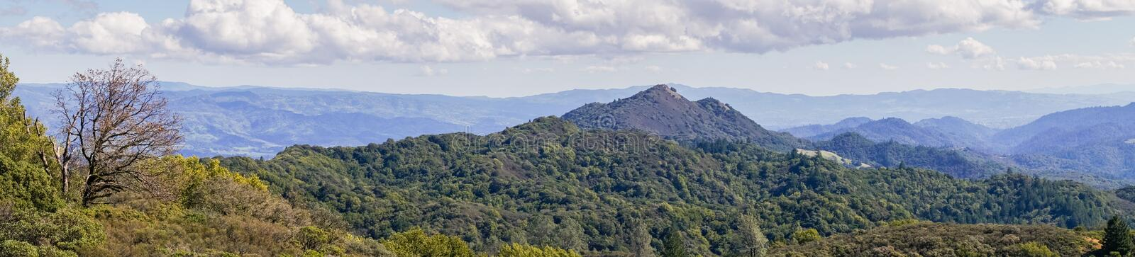Panorama in Sugarloaf Ridge State Park, Sonoma County, California stock photos