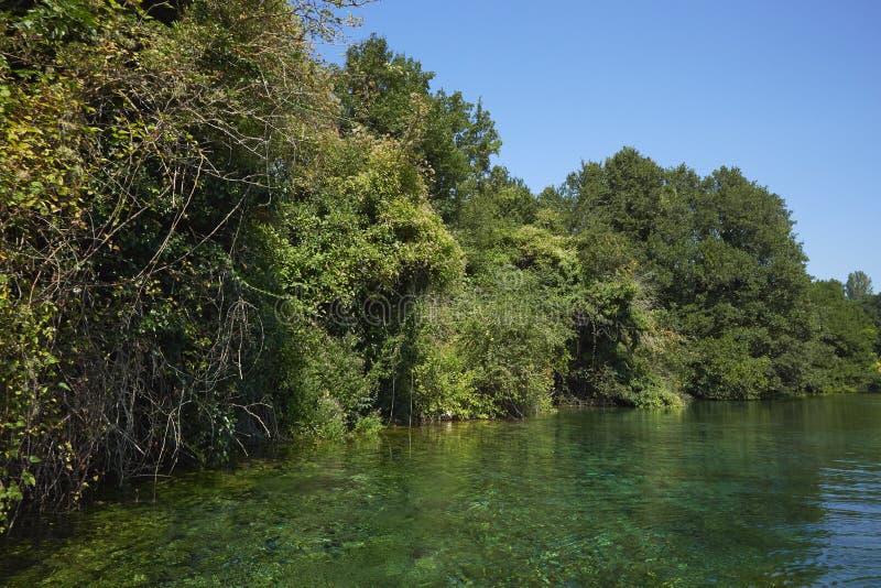 Panorama sul lago ohrid in Macedonia immagine stock libera da diritti