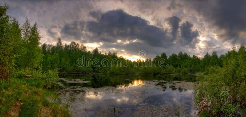 Panorama Of Summer Lake Stock Images