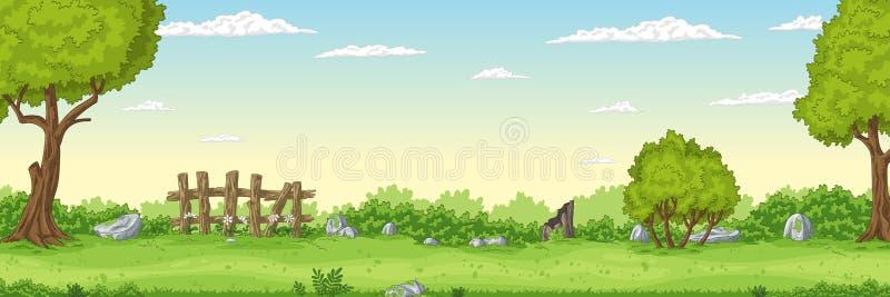 Panorama Summer Landscape royalty free illustration