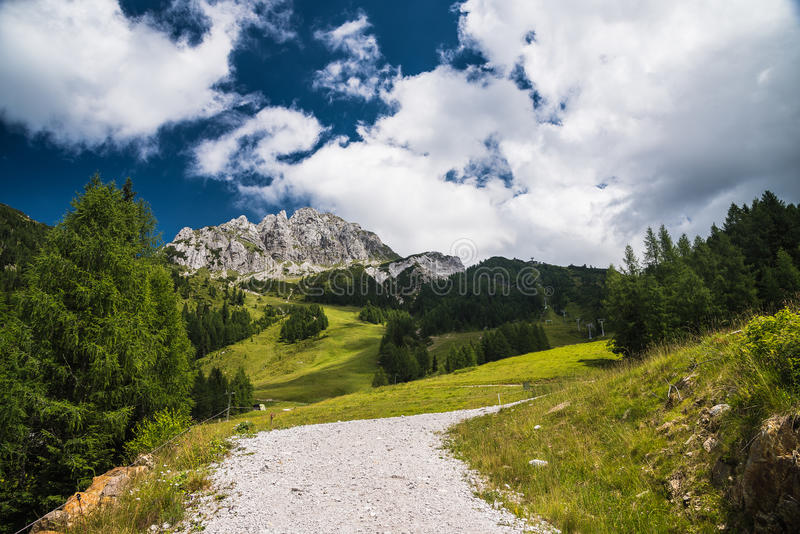 Panorama in summer mountains royalty free stock image