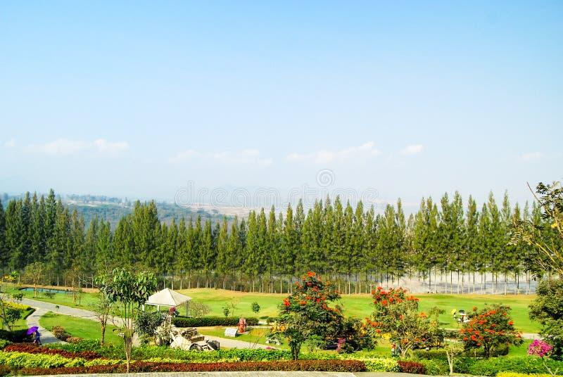 Panorama sur le parc national de Maemoh , Lampang , Thaïlande photos libres de droits