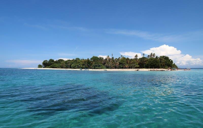 Panorama sur une île tropicale image libre de droits