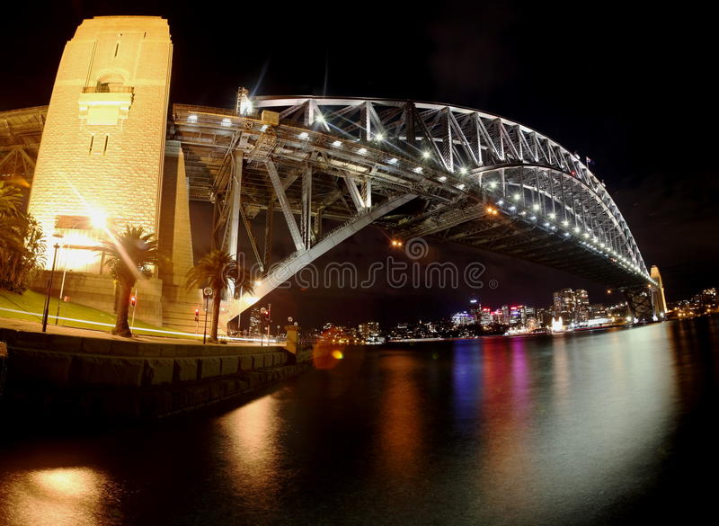 Panorama of Sydney Harbour Bridge stock images