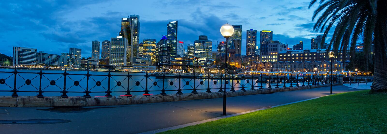 Panorama of Sydney's skyline stock images