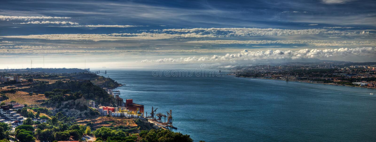 Panorama Tagus River fotografia de stock royalty free