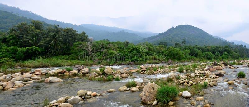 Panorama Taha Waterfalls at Ban Khiri Wong village stock photography