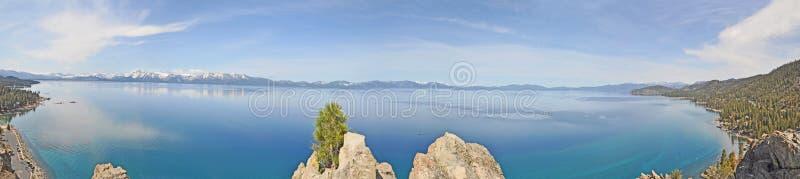 panorama- tahoe för lake fotografering för bildbyråer