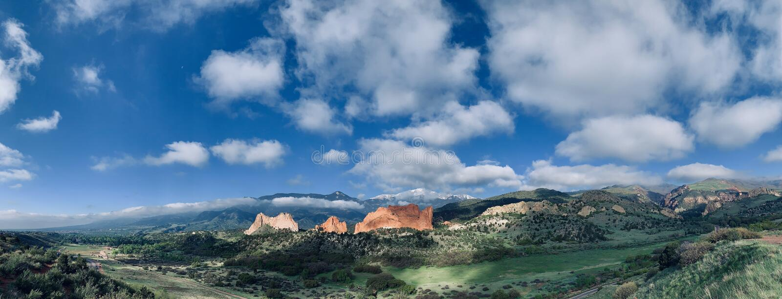 Panorama at Garden of the Gods stock image