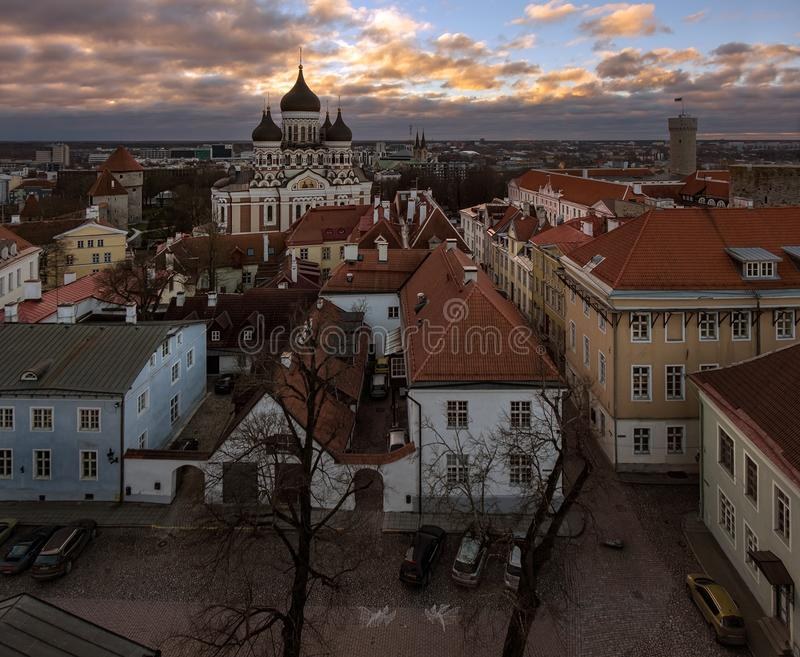 Panorama of Tallinn royalty free stock photos