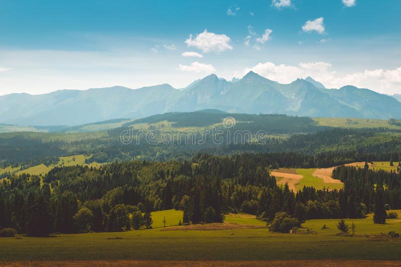 Panorama of Tatra Mountains royalty free stock photo
