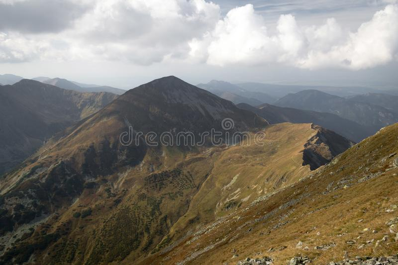 Panorama of Tatra Mountains royalty free stock photography