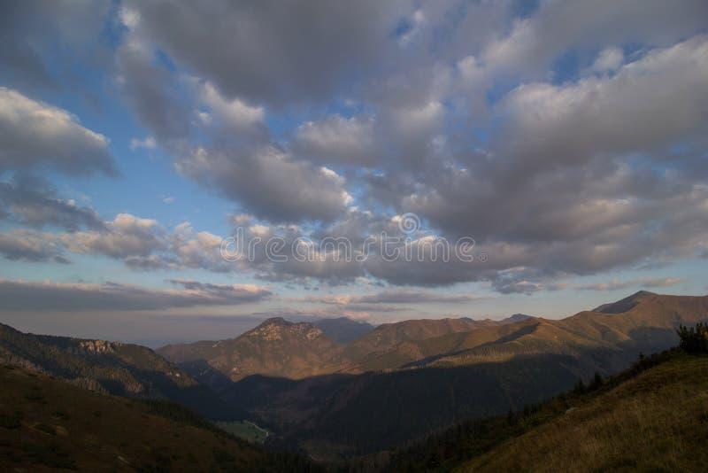 Panorama of Tatra Mountains royalty free stock photo