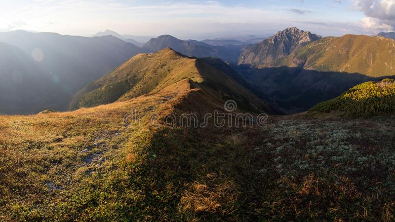 Panorama of Tatra Mountains stock images