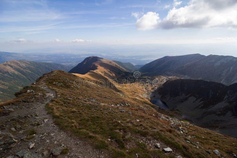 Panorama of Tatra Mountains stock photo