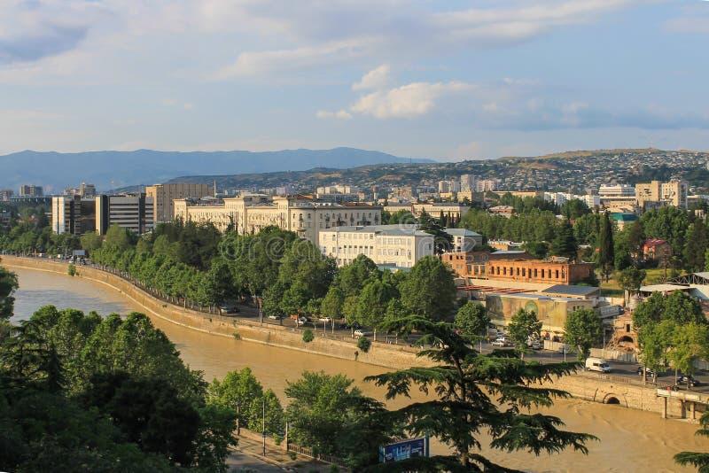 Panorama Tbilisi fotografia de stock