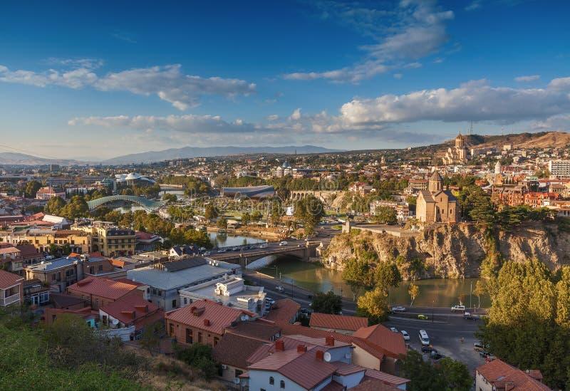 Panorama- Tbilisi, Georgia royaltyfri bild
